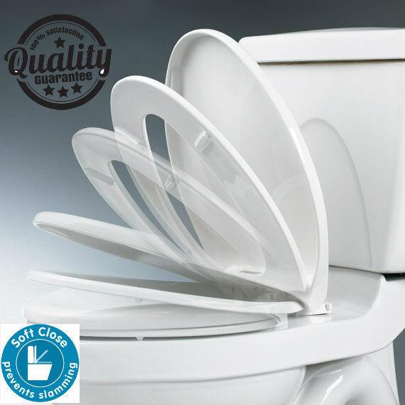 Soft Close Plastic Toilet Seat Ashley Housewares TS512 eBay