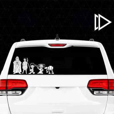 Star Wars Stick Figure Family Vinyl Decal Car Window Sticker - Jedi Force BB-8