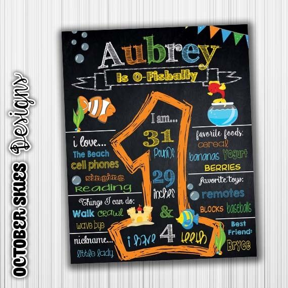 Ofishally One Birthday Chalkboard, Birthday Announcement, Digtal File, any age