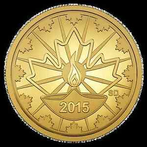 2015 25-Cent Gold Coin - Diwali Festival of Lights AUTOGRAPHED