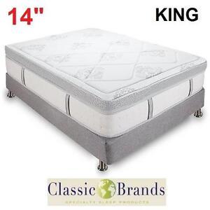 """NEW CLASSIC BRANDS 14"""" MATTRESS - 119999690 - KING GRAMERCY HYBRID COOL GEL MEMORY FOAM INNERSPRING MATTRESSES BEDS B..."""