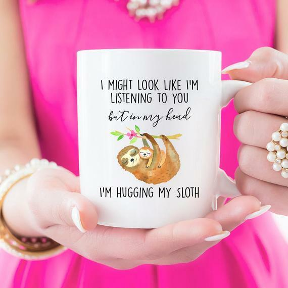 Sloth, Gifts For Sloth Lovers, Gifts For Her White coffee Mu