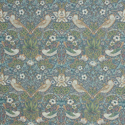 Chinoiserie Victorian Style Fabric Floral Bird Fruit Upholstery Drapery Teal IL9