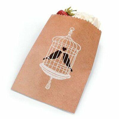 Love Birds Wedding Favor (Love Birds Cake Candy Treat Wedding Party Kraft Paper Favor Bags )