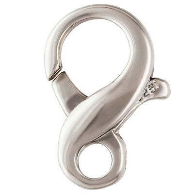 Sterling Silver Clasp, Infinity Clasp, 1pc, Figure 8 Lobster Catch, Large, 20mm (Large Sterling Silver Clasp)