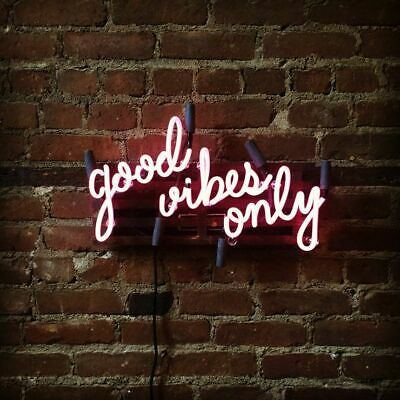 Custom Party good vibes only Gift Drinking Store Beer Bar Neon Sign Wall Decor