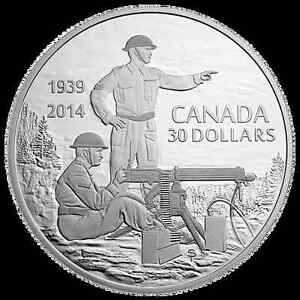 2 oz. Fine Silver Coin - Canadian Machine Gunner in Training