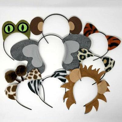 Jungle safari zoo animals ears headband birthday party favor costume supplies](Jungle Safari Birthday Supplies)