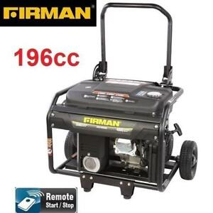NEW* FIRMAN 4000W GAS GENERATOR ECO4000RE 142607556 6.5 HP - 196cc - REMOTE START - PORTABLE GENERATORS STARTERS CHAR...