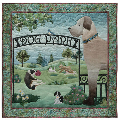 McKenna Ryan Quilt Pattern, Dog Park Block #1 Unleashed, Gate Dogs Quilting DIY