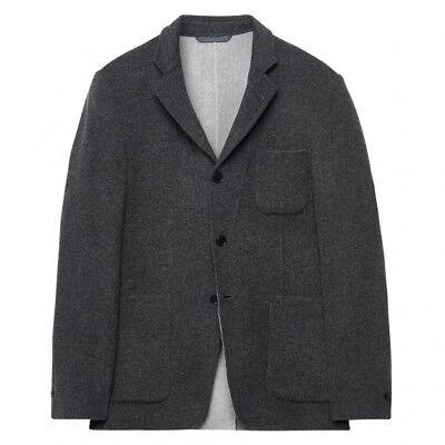 NWT GANT Men's Wool Cashmere Cardigan Blazer Suit Jacket Sport Coat 48 / 38 Gray