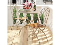 Oka Garden furniture - metal table and two chairs