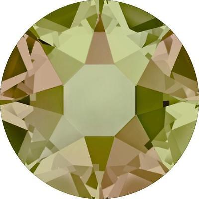 LUMINOUS GREEN Swarovski 16ss  Flatback HOT FIX 2078 Rhinestones Crystals 144 pc - Green Swarovski Rhinestones Hot Fix