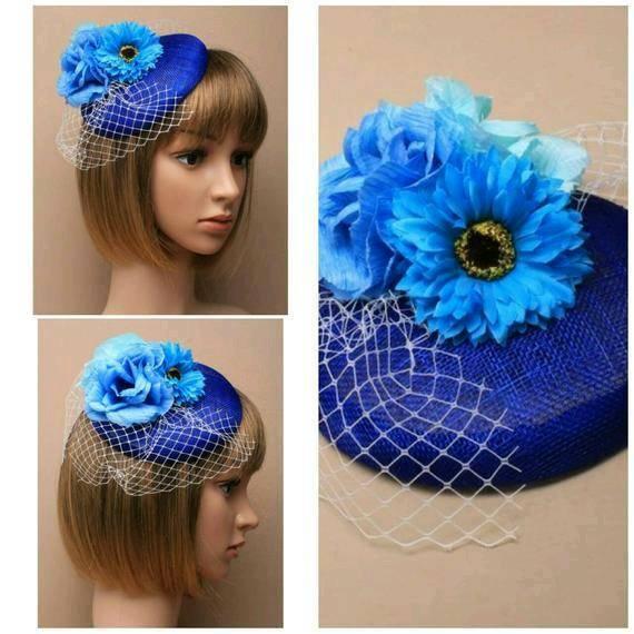 0c893d4180e Royal Blue fascinator hatinator