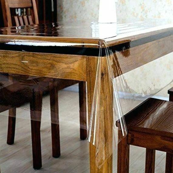 Clear Plastic Waterproof Tablecloth Transparent Heavy Duty D