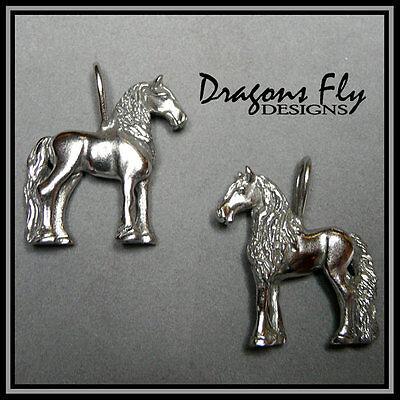 Friesian Pendant Equine Jewelry Horse Jewelry, Stainless Steel, Baroque Pendant