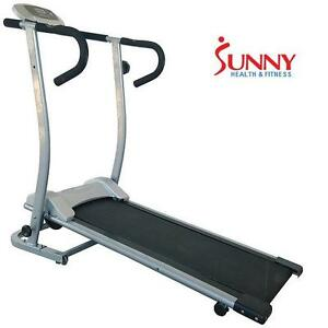 USED* SHF MAGNETIC MANUAL TREADMILL SUNNY HEALTH AND FITNESS EXERCISE EQUIPMENT TREADMILLS CARDIO TRAINING GYM GYMS