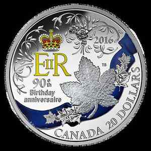 1 oz Silver Coin – A Celebration of Her Majesty's 90th Birthday