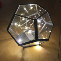 "hanging geometric black terrarium 8"" $15.99"