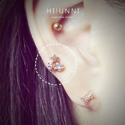 Star Cartilage Earring Stud - 16g Dainty Star helix earrings, cartilage earrings, conch ear stud jewelry,1pc