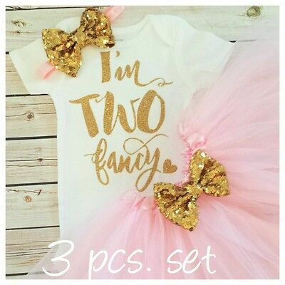 2nd birthday outfit,pink and gold bodysuit,pink glitter bodysuit, Handmade,two