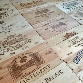 TRADITIONAL FRENCH VINTAGE WINE BOX END PANELS / WOODEN PLAQUES IDEAL WALL BAR CLUB RESTAURANT DECOR