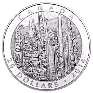 """2014 """"EMILY CARR"""" SILVER COIN-CANADA-MINT!!!"""