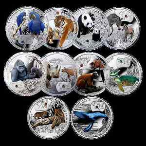endangered animals 10 coins collection