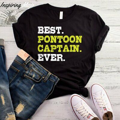 Best Pontoon Captain Ever T-Shirt, Funny Boat Gift, Gift For Boater, Boat