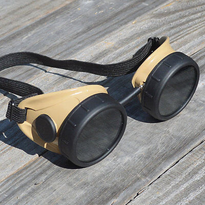 Steampunk Goggles Military Glasses Cyber Victorian Biker Rave Cosplay Costume