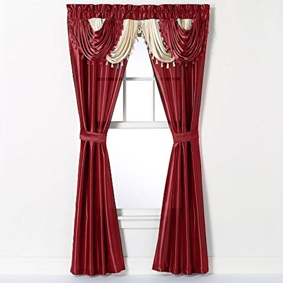 Regal Home Collections Amore Window in a Bag Curtain Set - A