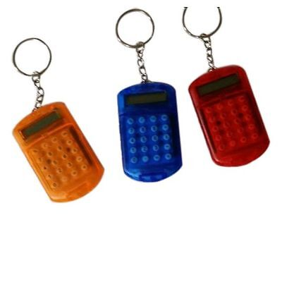 Stylish Battery Powered 8 Digits LCD Mini Calculator with Key buckle High Garde