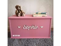 Personalised Toy Box - Dusty Pink