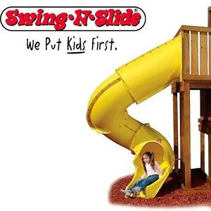 NEW* SNS YELLOW TURBO TUBE SLIDE 7' FOOT  - SWING-N-SLIDE - SLIDES TUBES PLAYGROUND ADDITIONS PLAYSETS PLAYSET