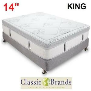 "NEW CLASSIC BRANDS 14"" MATTRESS - 119999690 - KING GRAMERCY HYBRID COOL GEL MEMORY FOAM INNERSPRING MATTRESSES BEDS B..."