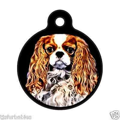 King Charles Cavalier-Custom Personalized Pet ID Tag for Dog & Cat Collars
