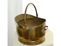 Brass Coal Wood Log Burner Fireplace Bucket (Scuttle)