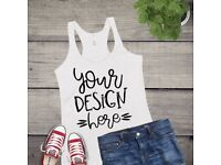 Personalised Clothing, Vinyl, Hen/Stag Party wear, childrens clothing, gym apparel, wall decals