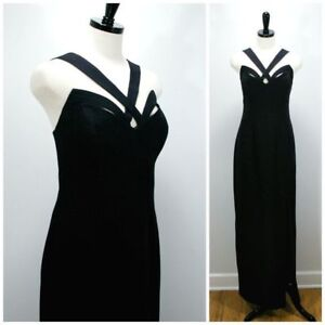 EUC Long Black Evening Gown