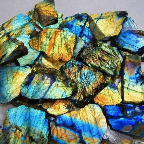 1Kg. Natural Labradorite Rock Rough,Slab,Tiles For Gemstone Making Lot