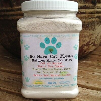 Natural Diatomaceous Earth Herbal Flea Treatment Control for Cats & Kittens
