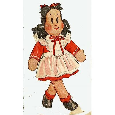 Little LuLu  Doll Pattern 1447 a 1940s Comic Book Girl doll Clothes pattern too