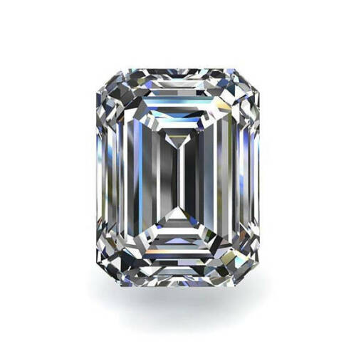 Moissanite Emerald Forever One Loose VVS1 D-E-F Color Engagement Free Shipping
