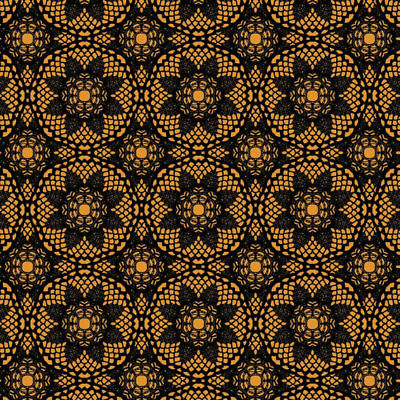 Happy Halloween BLACK Creepy Crochet by Patrick Lose cotton fabric by the yard](Happy Halloween Happy Halloween)
