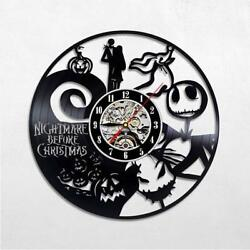 Nightmare Before Christmas Vinyl Record Wall Clock Good Gift Idea For Holiday