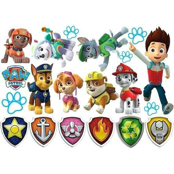 Paw Patrol Cartoon Boy Girl Baby Child Room Play Wall Art St