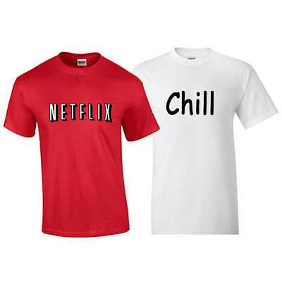 Netflix Shirt Netflix and Chill Halloween Costume Shirt Combo T-Shirt Deal - Netflix Halloween