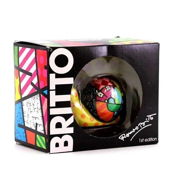 ROMERO BRITTO Miniature Collectible Snail Figurine NEW In Original Box