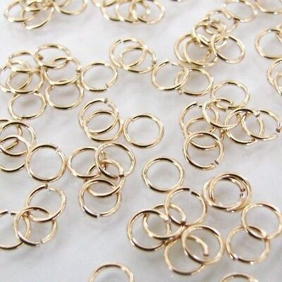 14K YELLOW GOLD-FILLED OPEN 4.6MM JUMP RINGS; 20 GAUGE - (10) - MADE IN USA