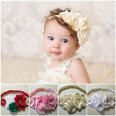 Handmade Christmas/Christening/Flower Girl Vintage Baby/Toddler/ Girl Headband (Xmas Headbands)